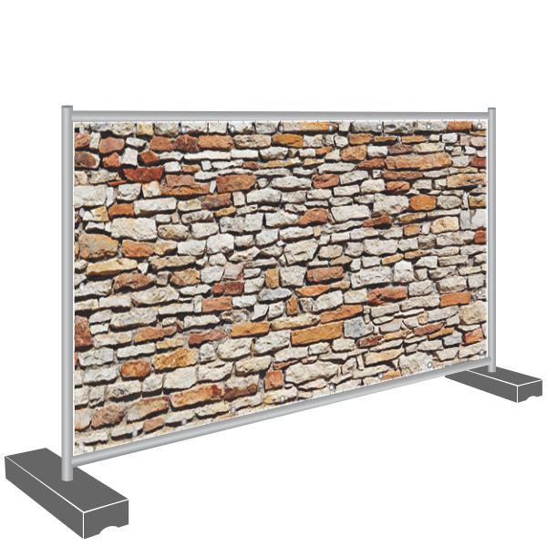 Sichtschutz Banner Steine Mauer