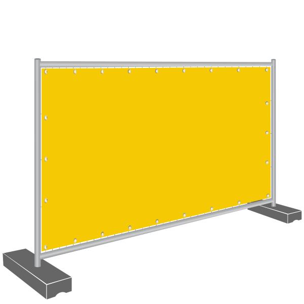 Notausgang Banner - Blende gelb