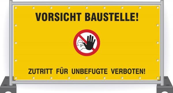 Baustellenbanner-Sicherheitszeichen-Vorsicht-Baustelle