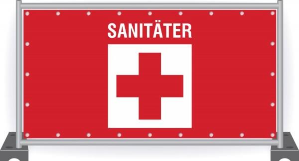 Notausgang-Banner-Sanitäter