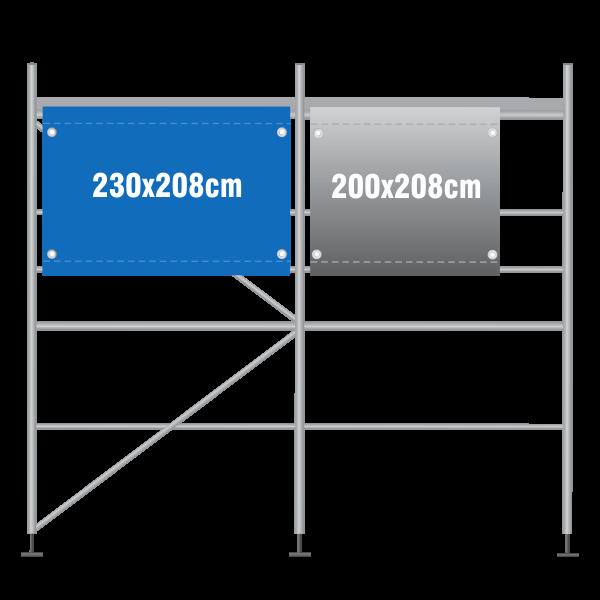 Gerüstbanner 230x208cm