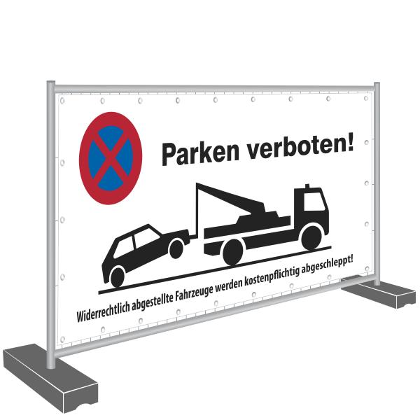 Bauzaunbanner 340x173cm - Parken verboten