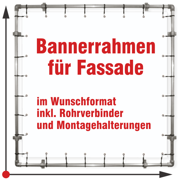 Banner Rahmen Fassade