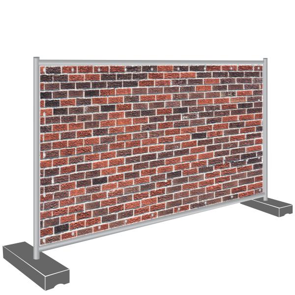 Sichtschutz Banner Mauerwand Mauer