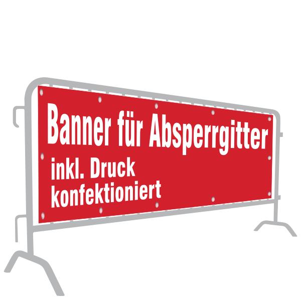 Banner für Absperrgitter