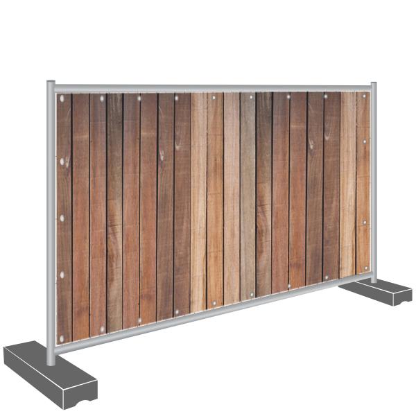 Bauzaunbanner Sichtschutz Holz Holzzaun