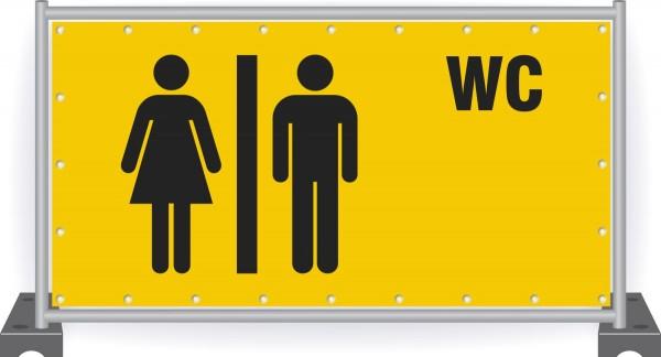 WC-Toilette-Banner-Bauzaun