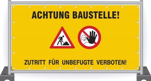 Baustellenbanner-Baustelle-Zutritt-verboten