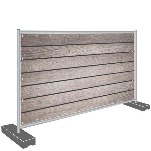 Sichtschutz Banner Holz