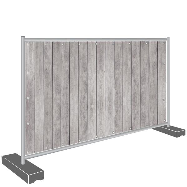 Sichtschutz Banner Holz Zaun