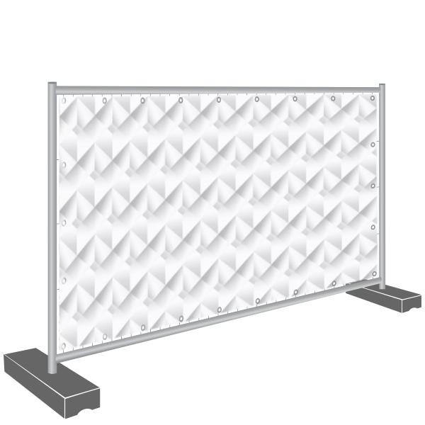 Sichtschutz Banner, geometrische Wand