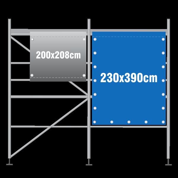 Gerüstbanner 230x390cm