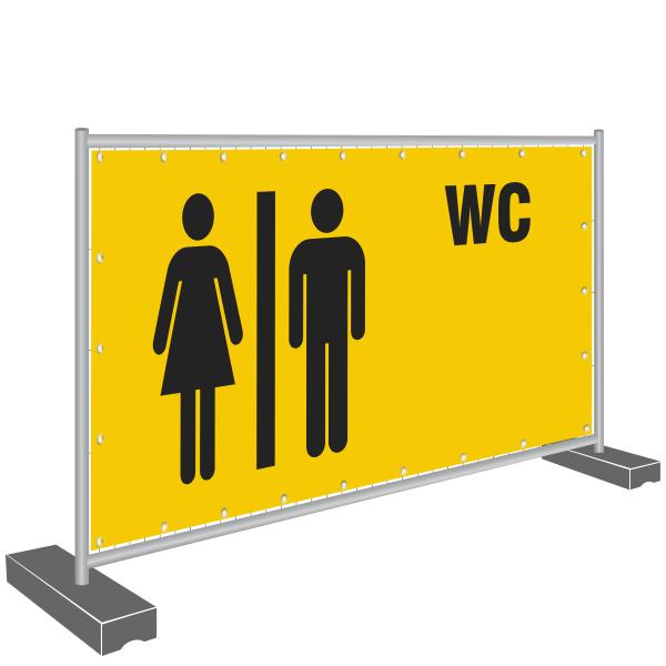 Notausgang Banner - WC