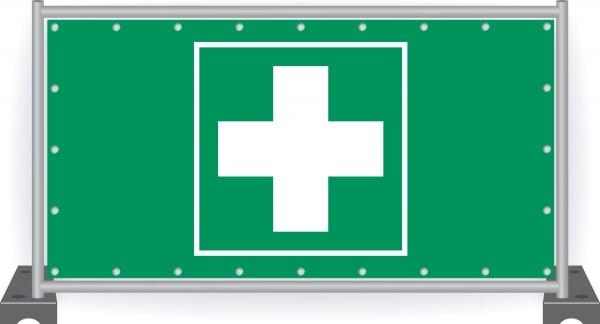 Notausgang-Banner-Erste-Hilfe