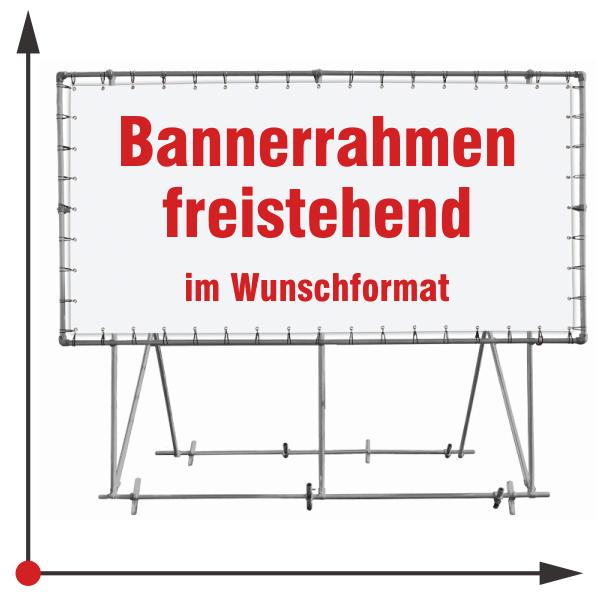 Banner Rahmen freistehen