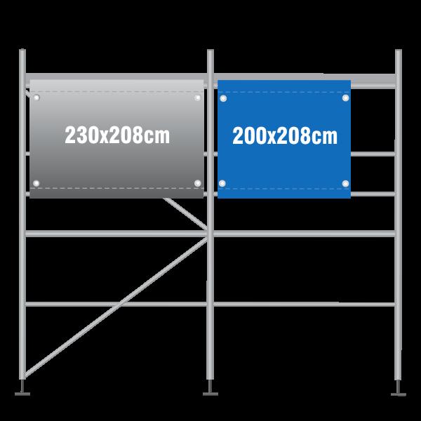 Gerüstbanner 200x208cm
