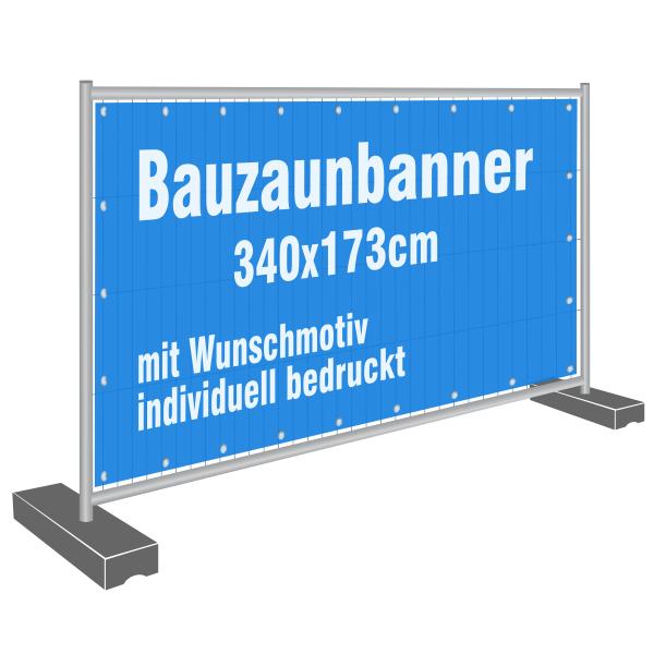 Bauzaunbanner Baustellenbanner Bauzaun Banner bedruckt