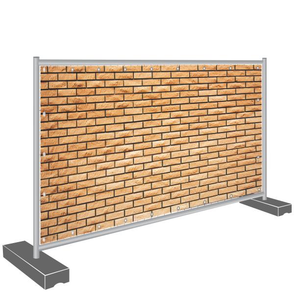 Sichtschutz Banner Mauer