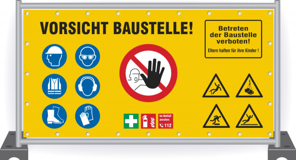 Baustellenbanner-Vorsicht-Baustelle-Sicherheit