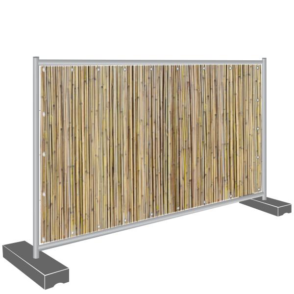 Sichtschutz Banner, Bambus hell