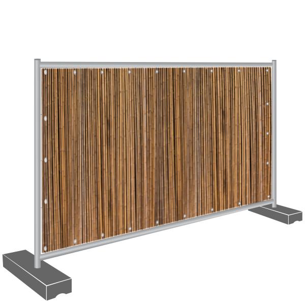 Sichtschutz Banner Bambus dunkel