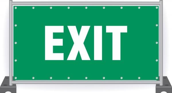 Notausgang-Banner-Exit